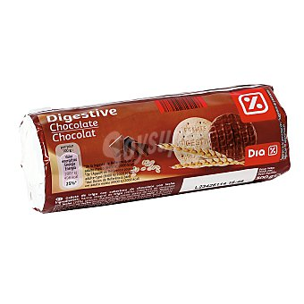 DIA Galletas tipo Digestive con chocolate paquete 300 grs Paquete 300 grs