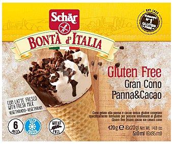 Schär Cono nata/chocolate  Caja de 6 unidades