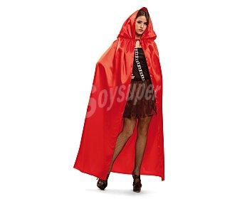 MY OTHER ME Complemento para disfraz de Halloween, Capa roja con capucha talla única Capa roja
