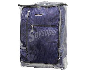 IN EXTENSO Maleta de 2 ruedas, flexible y plegable (bolsa para guardarla incluida), color azul, medida: 55 centímetros 55cm