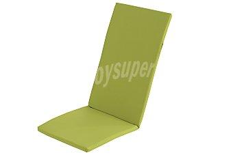 COMATEX Cojín para tumbona multiposición modelo Grey Line de color verde lima, de 120x49x3 centímetros, lavable y de gran resistencia al exterior 1 unidad