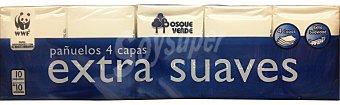 BOSQUE VERDE Pañuelos papel bolsillo compacto 4 capas extrasuave azul oscuro 10 unidades