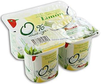 Auchan Yogur desnatado de limón 4 unidades de 125 gramos
