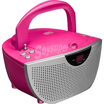 BIGBEN CD46RSSTICK Radio CD con MP3 en color rosa