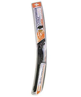 ROLMOVIL Limpiaparabrisas delantero flexible de 400 milímetros de longitud, con 6 adaptadores de ajuste 1 unidad