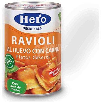 Hero Raviolis al huevo con carne Lata 420 g