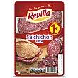 Salchichón de calidad extra, sin gluten y cortado en lonchas Paquete 80 g Revilla