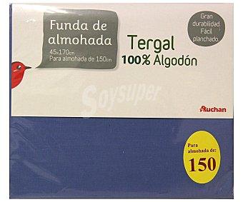 PRODUCTO ECONÓMICO ALCAMPO Funda de almohada, color azul, 150 centímetros 1 Unidad