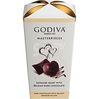 GODIVA Masterpieces corazones de bombón de chocolate negro belga Estuche 193 g