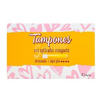 Deliplus Tampón súper plus con aplicador compacto Caja 28 u