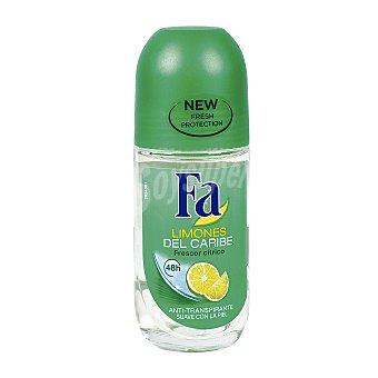 Fa Desodorante roll-on limones del caribe anti-transpirante  Bote 50 ml