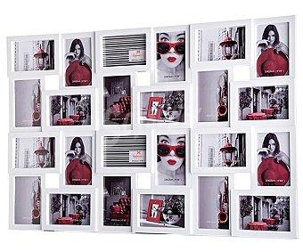 HOFMANN 7007B Marco de Plástico Blanco múltiple, para 24 fotos. Colección Trendy. Tamaño fotos: 10x15 cm. Para colgar en la pared (con colgadores) HOFMANN.