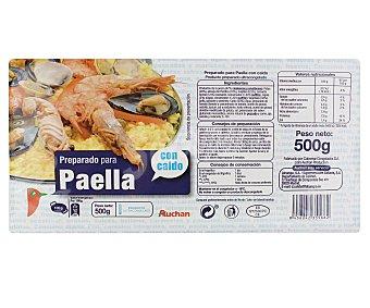 Auchan Preparado para paella con caldo 500 gramos