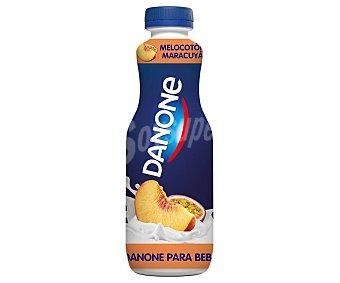 Danone Yogur líquido semidesnatado para beber con melocotón y maracuya 515 ml