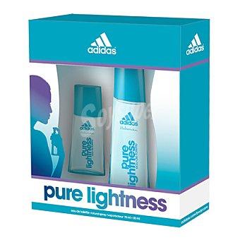 Adidas Estuche colonia Pure Lightness spray 75 ml. + 30 ml. 1 ud