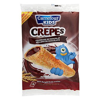 Carrefour Kids Crepes rellenos de chocolate 256 g