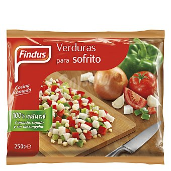 Findus Verduras para sofrito 100% natural Bolsa 250 g
