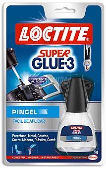 Loctite Super glue-3 con pincel Envase de 5 g