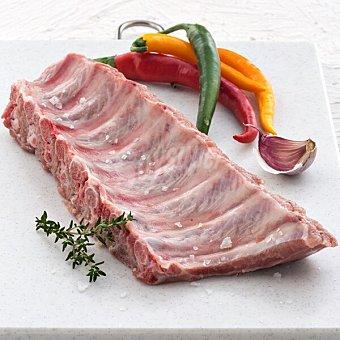 Costillas en tiras de cerdo fresco cruce raza duroc 100 gramos