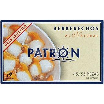 PATRON GRAN SELECCION Berberechos al natural 45-55 piezas Lata 63 g neto escurrido