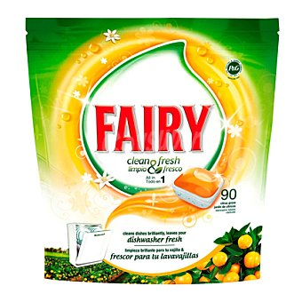 Fairy Lavavajillas máquina naranja Bolsa 90 dosis