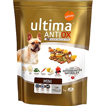 Ultima Affinity Alimento para perros de raza mini con pollo, frutas y verduras Antiox Mini Envase 1 kg