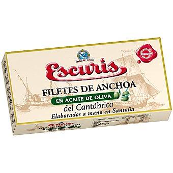 ESCURIS Filetes de anchoa en aceite de oliva del Cantábrico elaborados a mano en Santoña  lata de 30 g neto escurrido