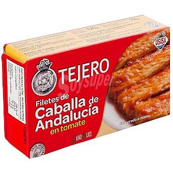 Tejero Filetes de caballa de Andalucía en tomate Lata 78 g neto escurrido