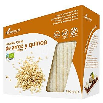 Soria Natural Tostadas ligeras de arroz integral y quinoa ecológicas 85 g