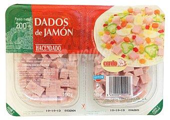 Hacendado Jamon cocido taquitos 2u x 100 g