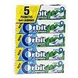 Chicle láminas sabor hierbabuena paquete 5 uds Orbit