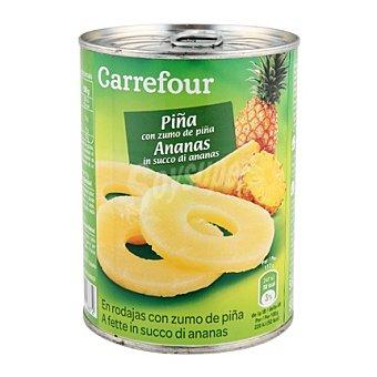 Carrefour Rodajas de piña en su jugo 340 g