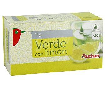 Auchan Té verde con limón 20 unidades
