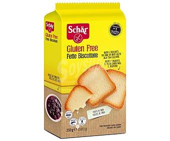 SCHAR Fette Biscottate pan tostado sin gluten y sin lactosa envase 250 g