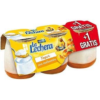La Lechera Nestlé yogur con melocotón + 1 gratis pack 2 unidades 125 g
