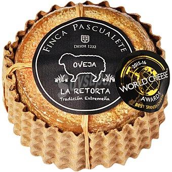 Finca pascualete La Retorta queso de oveja cremoso curado de Extremadura pieza 500 g