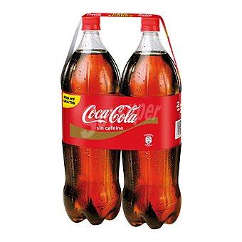 Coca-Cola Refresco de cola sin cafeína Pack 2x2,20 l