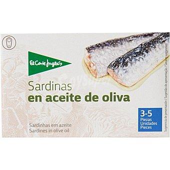 El Corte Inglés sardinas en aceite de oliva 3-5 piezas lata 87 g neto escurrido