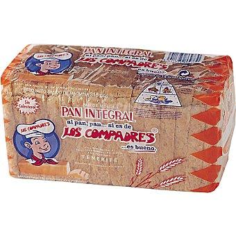 Los Compadres Pan de molde americano integral Bolsa 315 g
