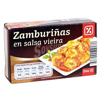 DIA Zamburiñas en salsa vieira lata 65 grs Lata 65 grs