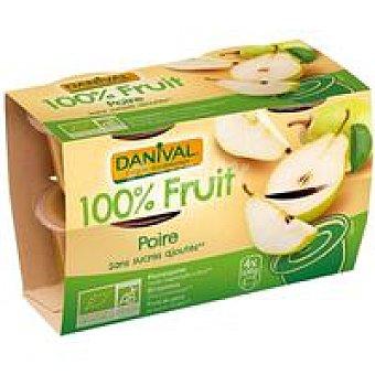Danival Compota de pera Pack 4x100 g