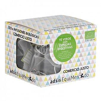 Equimercado Té verde con especias en bolsitas ecológico 15 ud 15 ud