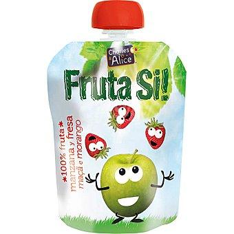 CHARLES & ALICE Fruta SI! manzana y fresa 100% fruta Envase 90 g