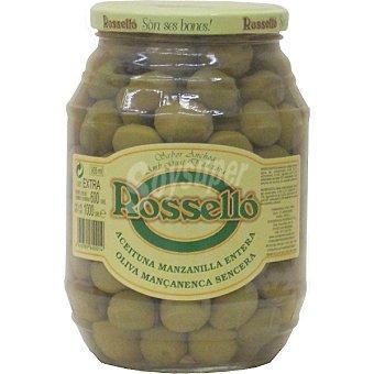 Rossello Aceitunas manzanilla extra Frasco 550 g neto escurrido