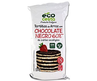 Ecocesta Tortitas de Arroz con Chocolate Negro Ec Bolsa 6 unidades (100 g)