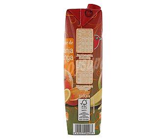 Auchan Néctar de naranja y mango Brik de 1 litro