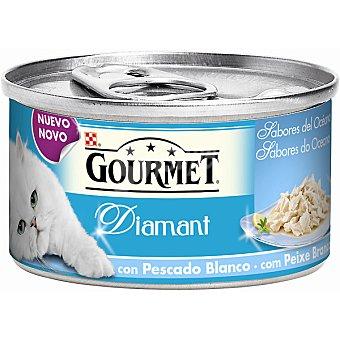 Gourmet Purina Sabores del océano Diamant con pescado blanco para gatos  Lata de 85 g