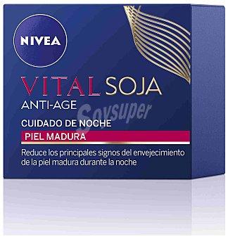 Nivea Vital Multi Active crema de noche anti-edad soja para piel madura tarro 50 ml Tarro 50 ml