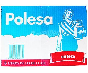 Polesa Leche entera Brik 6 Unidades