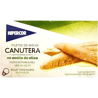 Hipercor Filetes de melva canutera en aceite de oliva Lata 85 g neto escurrido
